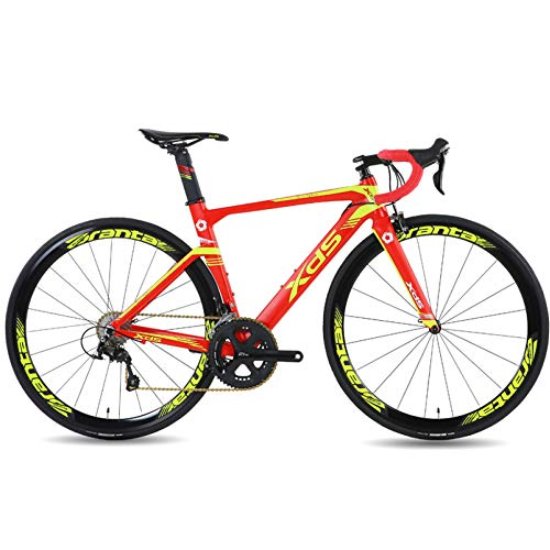 POTHUNTER Bicicleta De Carretera XDS X6 Cuadro De Aleación De Aluminio Bicicleta De Montaña 22 Velocidad Fibra De Carbono Horquilla Delantera,700C*490mm