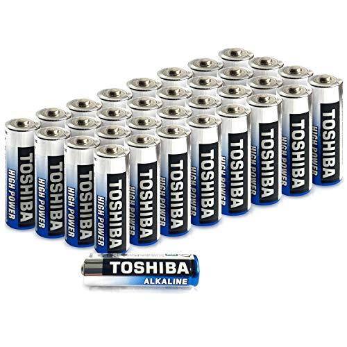 Toshiba AA Alkaline-Batterien (LR06), hohe Leistung, extra Lange Betriebsdauer, hochwertige japanische Qualität, Großpackung