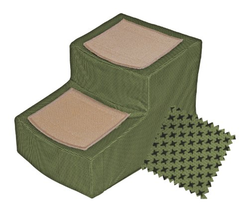Pet Gear PG9816DSG Designer 2-Step With Removable Cover, Pet Stairs, Sage