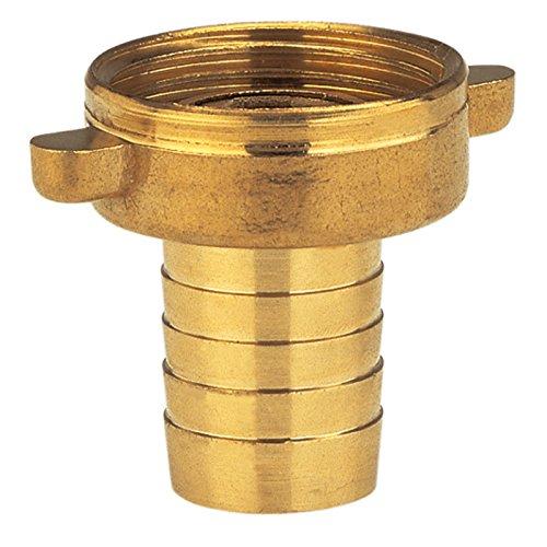 Gardena Messing-Schlauchverschraubung 2-teilig: Verschraubung aus hochwertigem Messing, 33.3 mm (G 1 Zoll)-Gewinde, für 13 mm (1/2 Zoll)-Schläuche (7143-20)