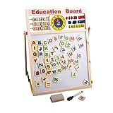 RIsxffp Abacus Letras de Madera números Pizarra magnética Tablero Juguetes educativos para niños