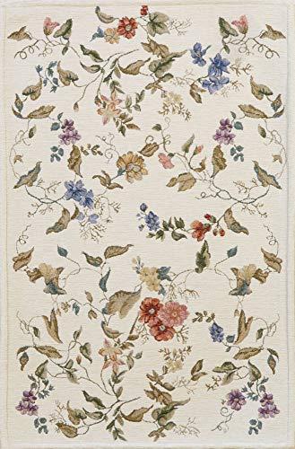HAMID - Alfombra Florencia Diseño Clásico Floral - Alfombra Acrilica con Base Antideslizante (D3, 200x140 cm)