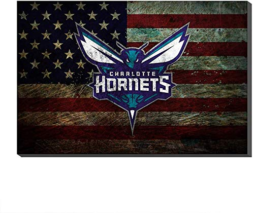 DINGDONG ART Tela Quadro 50x70cm Senza Cornice NBA Charlotte Hornets Chicago Bulls Cleveland Cavaliers Dallas Mavericks Poster Picture Prints Basketball Decor
