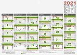 Brunnen 1070143001 Tischkalender/Tafelkalender A 4 Modell 701 43, 1 Seite = 6 Monate, kräftiger Karton, Kalendarium 2021