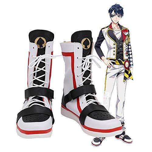Twisted Wonderland Deuce Spade Cosplay zapatos botas Halloween carnaval disfraz Prop hecho a medida 46 tamaño masculino