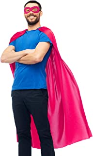 D.Q.Z Superhero Cape for Adult with Mask Men Women Super Hero Party