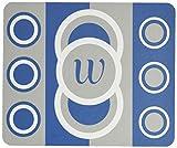 Rikki Knight W Initial Dazzling Blue Circle Designs Design Lightning Series Gaming Mouse Pad (MPSQ RK 43266)