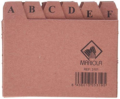 Mariola 3101 - Índice alfabético 24 posiciones cartón 65x95 mm