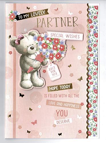 Partner verjaardagskaart 'naar mijn mooie partner'