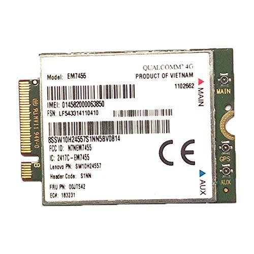REFURBISHHOUSE 4G LTE WWAN Card für Sierra Drahtlos irprime EM7455 GOBI6000 FRU: S1NN für X270 T470 T470S T470P P51 P71 2017 X1 + ntenne