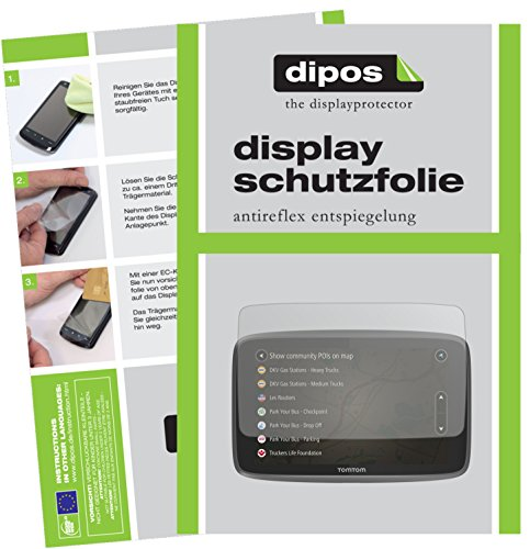 dipos I 3x Screen Protector matte compatible with TomTom Go Professional 6250 Protection Films
