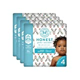 The Honest Company Baby Diapers with True Absorb Technology, Hey Rudolph, Size 4, 92 Count
