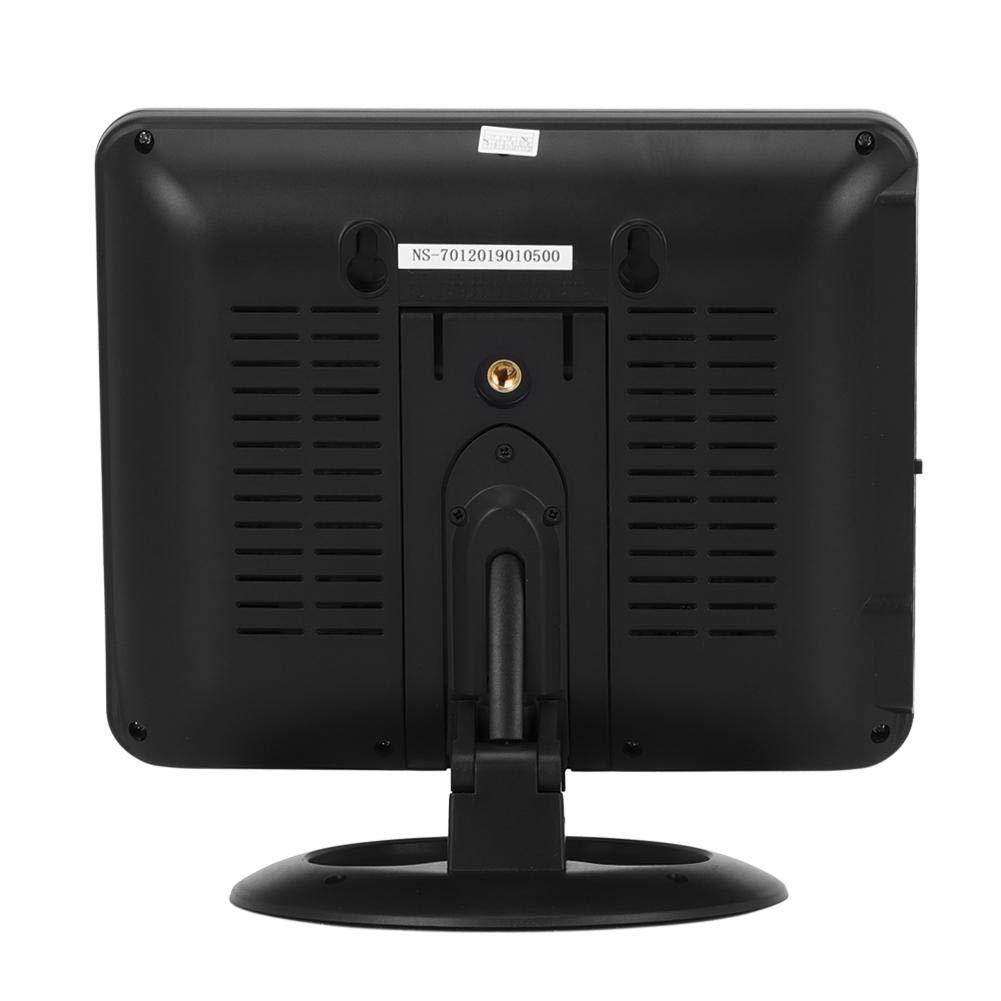 Gorgeri ABS 7.5 pulgadas Negro Coche Televisión portátil LCD HD Analógico Reproductor de TV móvil Monitor UE Enchufe 100-240V: Amazon.es: Coche y moto
