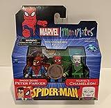 Art Asylum Marvel Spider-Man Minimates TRU Exclusive Spider Sense Peter & Chameleon