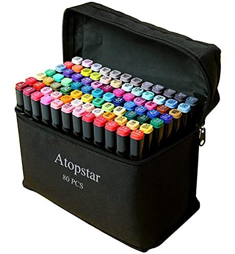 ATOPSTAR 80 Colors Alcohol Marke...