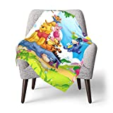 Hdadwy Winnie The Pooh Baby Blanket Toddler Quilt Kids Lightweight Blankets Home Ultra-Soft Crib Bedding Set