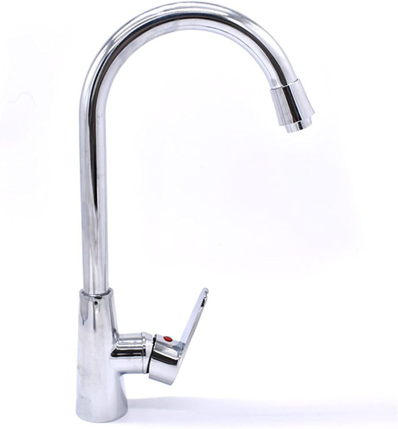 Lalaky Taps Faucet Kitchen Mixer Sink Waterfall Bathroom Mixer Basin Mixer Tap for Kitchen Bathroom and Washroom Single Handle Hot and Cold Water Copper Core Double Hole