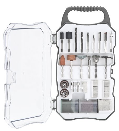 Genesis GART70 70-Piece Universal Rotary Tool Accessory Set with Durable Carrying Case , Gray