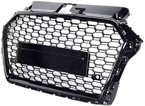 SIOM Abs-Kühlergrill, Auto Wabengrill Stoßstangengrill Racing Modifikation Lufteinlassgrill Für Audi A3 / S3 8V 2017-2019