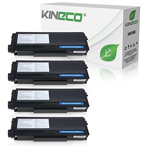 Kineco 4 Toner kompatibel für Brother TN-3280, TN3280 für Brother HL5340D, HL-5350DN, HL5370WD, HL5380DN, 8085DN. 8880DN, 8890DW, MFC-8370DN - Schwarz je 8.000 Seiten