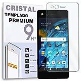 REY Protector de Pantalla Delantero para ZTE AXON M, Cristal Vidrio Templado Premium