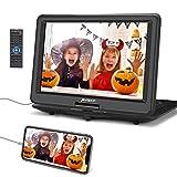 Pumpkin 16 Pouce Lecteur DVD Portable Voiture Grand Ecran pour Enfant Supporte HDMI Input,Vidéo Full HD,AV in/Out,USB SD MMC,Region Libre,avec Sacoche de Transport