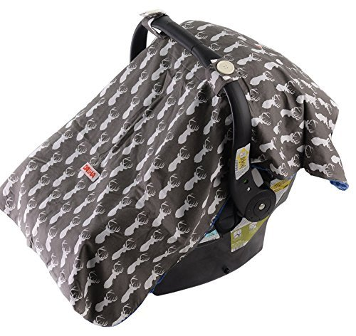 Baby Car Seat Cover For Boys By Danha  Carseat Canopy  Gray Color...