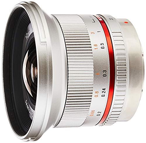 Samyang SY12M-MFT-SIL 12mm F2.0 Ultra Wide Angle Lens for Olympus/Panasonic Micro 4/3 Cameras, Silver