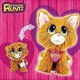 Rescue Runts - Peluche de Gato roso para Adoptar, para niños, Mascotas, Color marrón