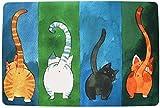 NOBRAND WLoyalty Cat Door Mat Durable Non-Slip Plush Doormat for Outdoor, Indoor, Bedroom and Bathroomwith Wool Felt Washable Personalized,washable door mats,outdoor door mats with cats(40 * 60CM)