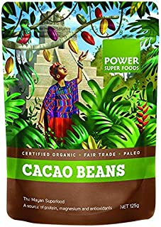Power Super Foods Organic Cacao Beans Powder 125 g