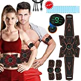 Muscle Stimulator, iThrough Abs Stimulator Muscle Toner Abdominal Muscle Trainer Ultimate Abs Toner