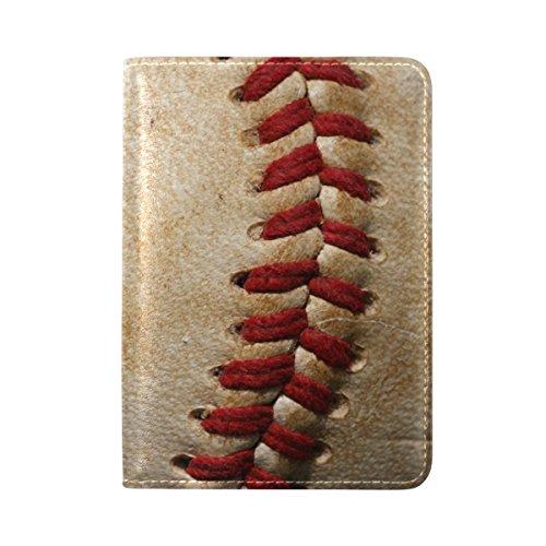 ALAZA Vintage Baseball Sport Leather Passport Holder Cover Case Travel One Pocket