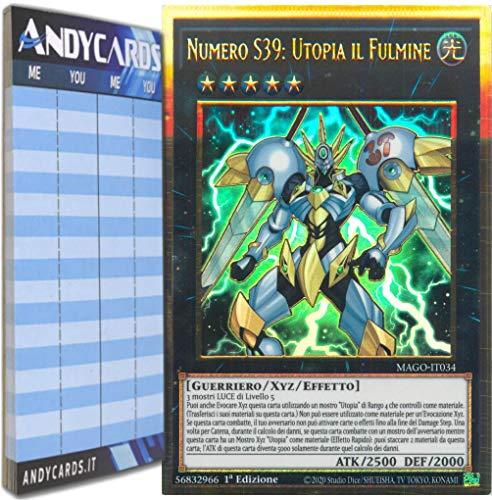 Andycards Yu-Gi-Oh! - NUMERO S39: UTOPIA IL FULMINE - Rara Oro Premium MAGO-IT034 in ITALIANO + Segnapunti