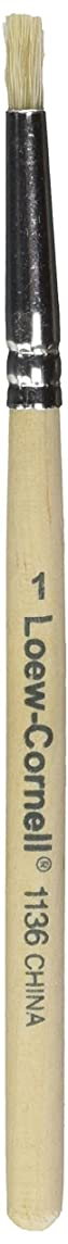 Loew-Cornell 1136-1 Bristle Stencil Brush, 3/16-Inch, White