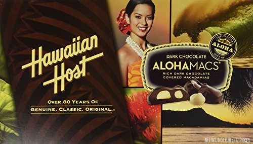 Hawaiian Host Alohamacs Dark Chocolate Covered Macadamia Nuts (1 Box)