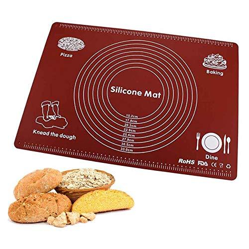 Silicone Rolling Deeg Mat Met Measurement, Non-Stick Bakken Koken Mat, Silica Gel Pastry Mat Voor Macaron, Gebak, Koekje, Broodje, Brioche, Brood Bakken