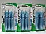 Brossette interdentaire GUM BI-DIRECTION, 6 unités, bleu clair 0,9mm, Lot de 3 (3x 6 unités)