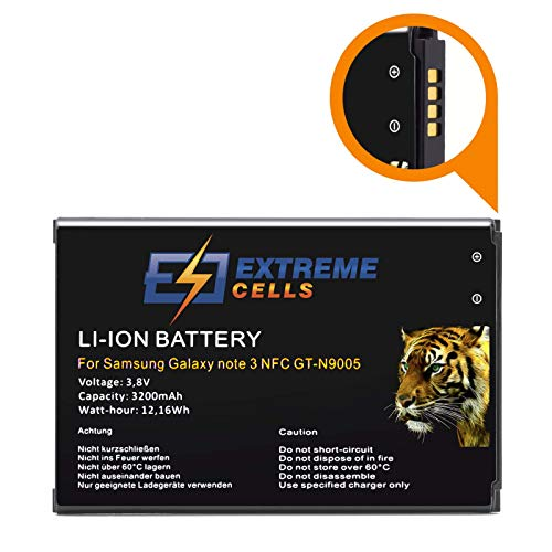 Extremecells - Batteria per GT-N9005 Galaxy Note 3 LTE con NFC