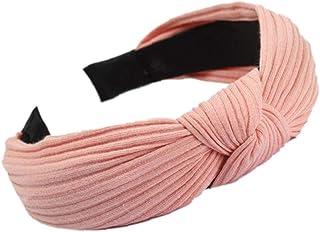 LAVALINK 1pc Hairband Mujeres Ancha del Aro del Pelo De Vendas del Nudo De Punto Vendas Elásticos Duro Diadema para Niñas