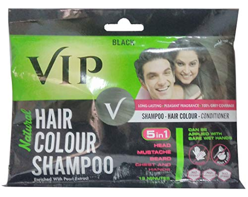 Vip Natural Hair Colour Shampoo Black 3 In 1 Shampoo Hair Colour Conditioner 40ml Buy Online In Uruguay Vcare Products In Uruguay See Prices Reviews And Free Delivery Over 2 500 Desertcart