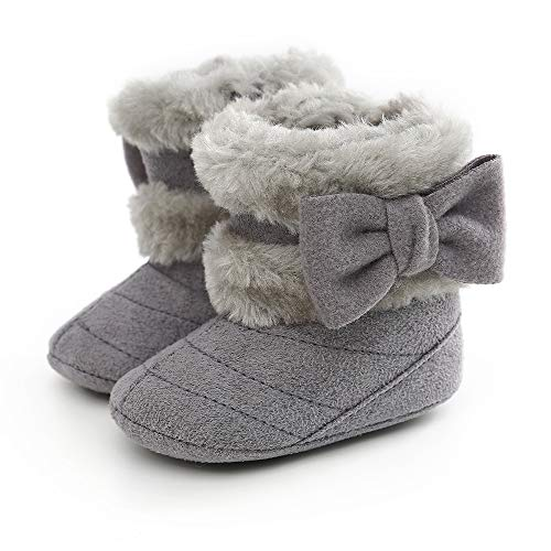 Botas de Bebés Unisexo Zapatos Primeros Pasos Invierno Soft Sole Botas Suaves de Nieve de Suela 0-18 Meses