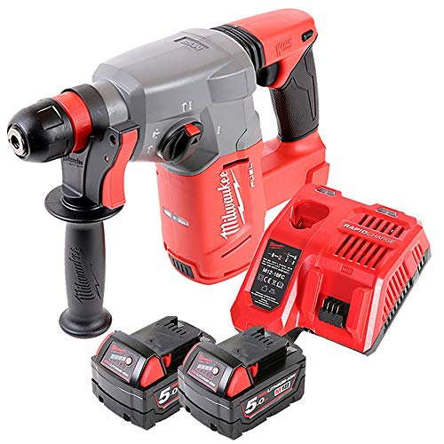 Milwaukee M18CHX 18V Fuel SDS Plus Hammer Drill with 2 x 5Ah Batteries & Charger