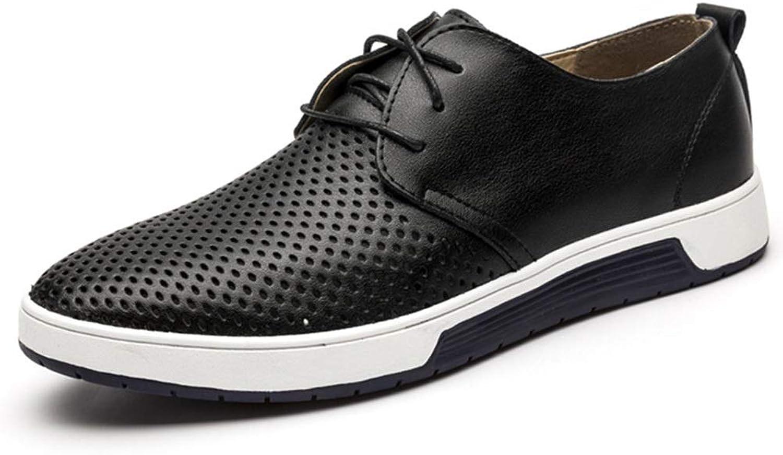 Casual shoes Men's shoes Men's England Casual shoes Business Casual Men's shoes Cricket shoes (color   Black net, Size   46)