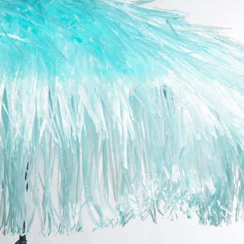 Jan Kurtz Hawaii Parasol à franges en polyester avec mât en acier Turquoise