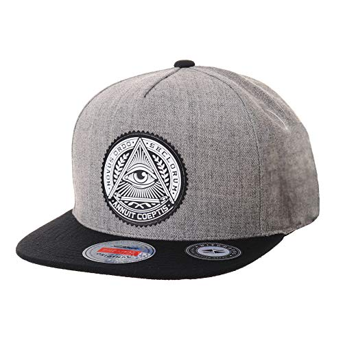WITHMOONS Gorras de béisbol Gorra de Trucker Sombrero de Snapback Hat Illuminati Patch Hip Hop Baseball Cap AL2344 (Grey)