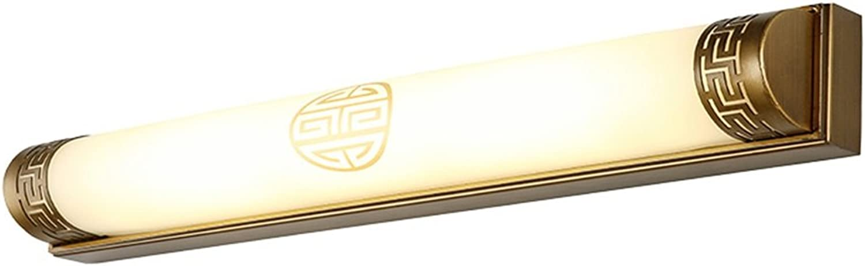 Badezimmer-LED-Spiegel-vordere Lichter, Retro- Spiegel-Kabinett-Licht-wasserdichte Anti-fog-Verfassungs-Lampe - Zink-Legierungs-dreifarbige helle Abbildung-Anzeigen-Wand-Beleuchtung-Befestigungen