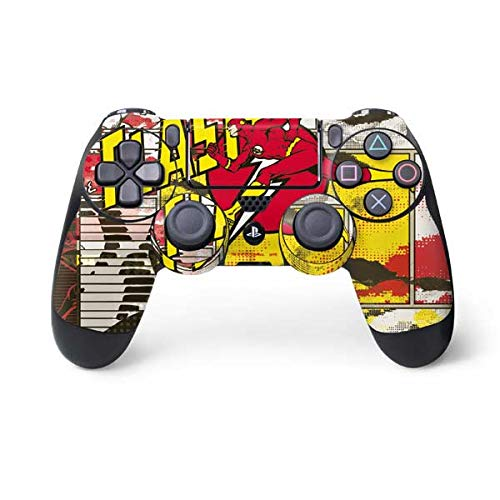 Skinit Decal Gaming Skin for PS4 Controller - Officially Licensed Warner Bros Flash Block Pattern Design
