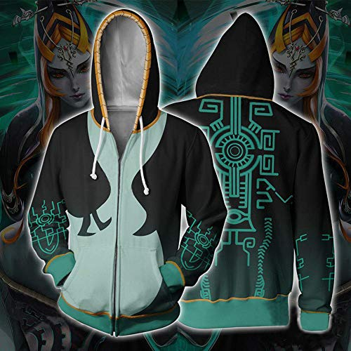 Hoodies The Legend of Zelda Cosplay Capuche Anime Impression 3D Sweat à Capuche Veste Zipper G-S
