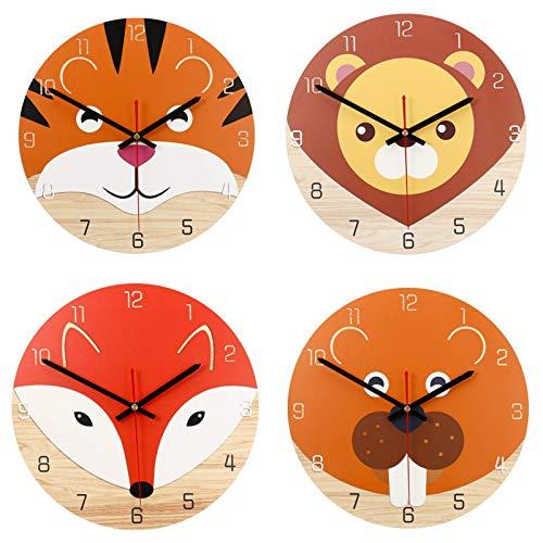 Belleashy - Reloj de pared para niños, redondo, moderno, casa, salón, cocina, reloj decorativo, reloj del profesor Easy Learn Time